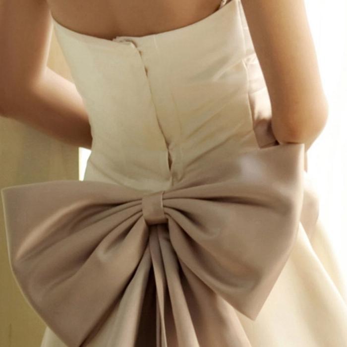Бант пояс для платья своими руками 18